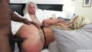Barbie pussy - Big tit blonde wants a deep pussy drilling by a bbc and cucks her husband