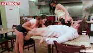 Saphire pan asian restaurant st louis Letsdoeit - karlee grey makes it rain over ginas face in a restaurant