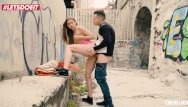 Females nude outside Letsdoeit - slutty teen sarah sultry takes a big cock outside