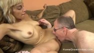 Older sluts who like cock videos - Young blonde slut with a tight body fucks an older man