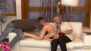 Granny amateur tries sex again Daddy4k. old gentleman really wants to try young vagina once again