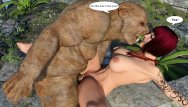 Hentai angel vs demon - Pig monster fucks busty 3d redhead milf