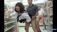 Convenience store thumb tom - Jav schoolgirls satomi and asuka fuck in convenience store uncensored