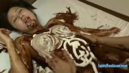 Hot sexy cream filled chocolate special - Jav idol suzu ichinose covered in chocolate and cream fucked in many pos