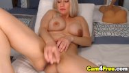 Pig vulva Sexy blonde cutie fucking her vulva with dildo