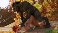 3d porn holograms Little red riding hood fucked by werewolf monster. 3d porn animation