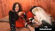 Free shiny fetish clips - Shiny femdom rubberdoll finger banged by bright latex maid