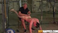 Old on twinks Young twink slave bob steel receives ass spanking by old dom