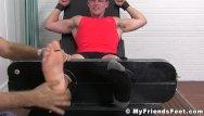 Severe twink Jock bradley tied up for severe feet tickling torment