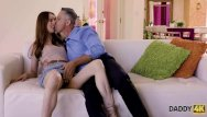 Power of redhead Daddy4k. remarkable redhead tries powerful dick of her bfs father