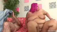 Sara hoots pink bikini pics Busty pink haired bbw sara star bounces on grandpas big cock
