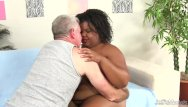 Peach gets anal - Black plumper peaches love gets her tight asshole reamed with a white dick