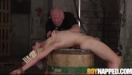 Gay boy test Young sub is in pain as he gets tested hard by maledom