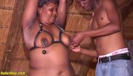 Moms first handjob - African moms first fetish lesson