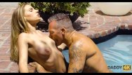 Teen girls and sex - Daddy4k. mature guy meets sons girl in the pool and seduces for sex