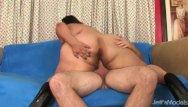 Chubby cheeks cute Lorelai givemore bounces her enormous ass cheeks while riding grandpas dick