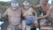 Xxx old granny threesomes - Omapass compilation of nasty granny content