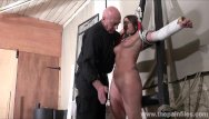 Pain slut Amateur slave lexis tit whipping and pussy spanking in bondage in kinky