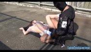 The london bridge sex position - Jav college girl chan fucks outdoors on public bridge uncensored