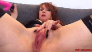 Mature mom split wide Busty mature redhead red xxx stretches her pussy wide