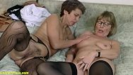Extremely breasted grannies - Rough lesbian granny dildo sharing