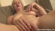 Pouty lip pussy - Blonde babe with perky nipples and one big lip goes multi orgasmic