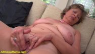 Grandma tits cum Grandmas first porn video filmed