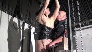 Sexy slaves in bondage strap suits - Wooden horse bondage and screaming sex toys orgasm of tied amateur slave