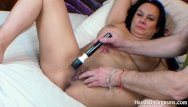 Massaging a nude man Horny british milf made to orgasm during photo shoot by camera man