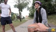 High roller street hustler Hunt4k. roller skater is watching how his babe satisfies another man
