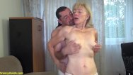 Ugly skinny mature 82 years old mom stepson fucked