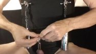 Nipples in bondage Kinky peehole fucking slut stretching nipples with weights