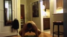 Hot hunk working out naked