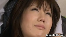 Busty Japanese wife Nanako Mori receives