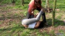 Pervert makes two girls catfight