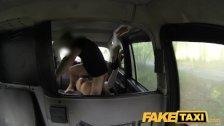 FakeTaxi - Halloween customer in taxi facial