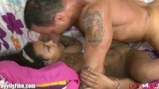 DevilsFilm Ebony Babysitter Boffed by Daddy