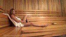 Two Sauna Strangers Anal Creampie