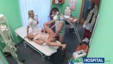 FakeHospital Nurse watches sexy couple fuck