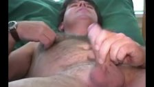 Amature Guy Stroking His Uncut Dick