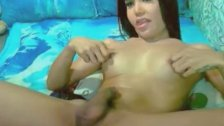 Lovely Asian Tranny Masturbating