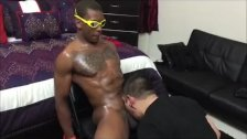 Sucking Straight Black Monster Cock