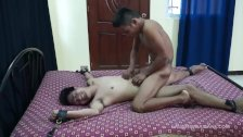Gay Asian Twink Dave Bouned and Tickled