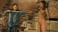 Lovely girl gets rubber band punishment and hot wax torture.