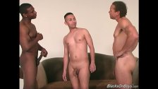 Twink gets assfucked by black men