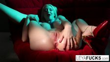 : Leya shoots gummy worms out of her ass then swallows them