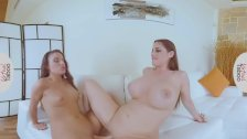 VIRTUAL TABOO - Mom and Teen Daughter Sharing Double Dildo