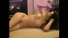 Sexy Shy MILF Strips then Spreads Hairy Trimmed Pussy and Rubs Firm Titties
