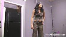 Natasha Indian College Girl Striptease Show