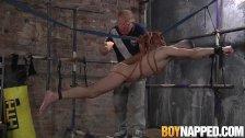 Suspended twink Michael Wyatt gets blown by master Sebastian